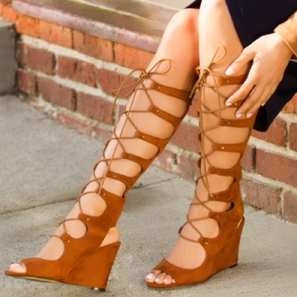 meet cheapest price the latest Leila Stone Gladiator Wedge Sandals